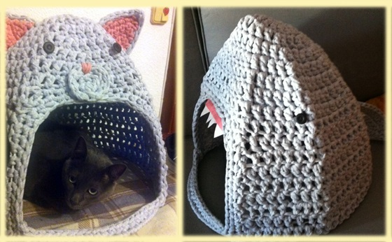 Cat Home Makeover From Cat To Shark Uk Crochet Patterns