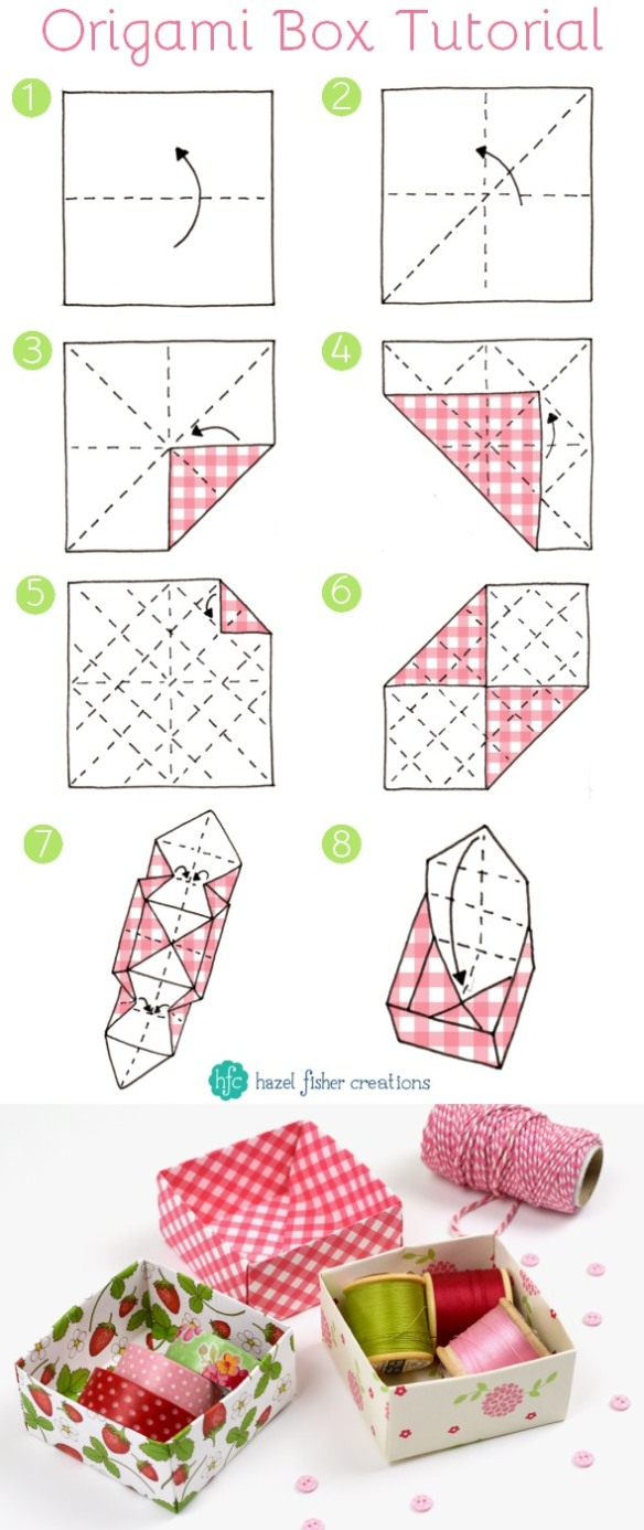 Easy Modular Origami Pinwheel Box & Lid Tutorial - Paper Kawaii ... | 1387x584